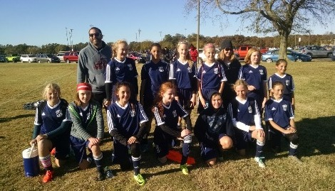 U13 Girls coached by Jason Bryson